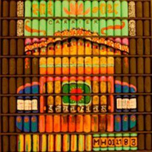 """Title - Honey Moon Travels   Size - 60"""" x 60""""   Medium - Mixed Media on canvas"""
