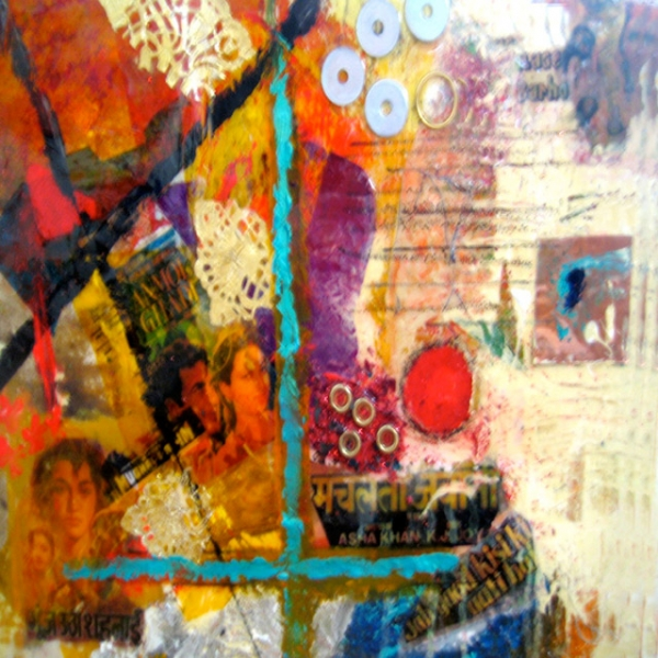 Title - Untitled | Size - 18 inch x 18 inch | Medium - Mixed Media on Canvas