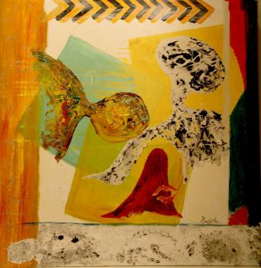 "Title - Shivo Hum 3   Size - 36"" x 36""   Medium - Mixed Media on canvas"