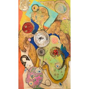 Title - Angel Brush Past 2 | Size - 36 inches x 60 inches | Medium - Mixed media on canvas